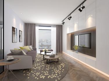 公寓这样装现代又温馨-苏武公寓小区83平米1室现代装修案例