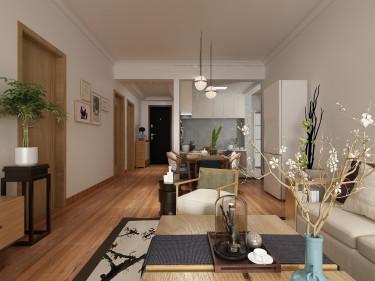 禅意,淡泊宁静,清新脱俗的日式风-碧桂园小区110平米3室日式装修案例