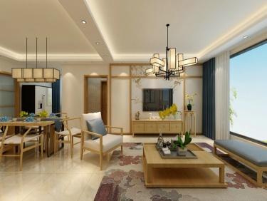 140平中式韵味新中本色-衡泰冠城小区140平米4室新中式装修案例