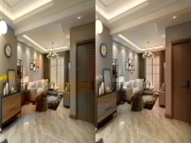 97平三室两厅简洁北欧风-智慧城小区97平米2室北欧装修案例