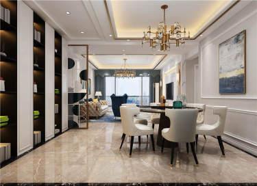 123平高品质和舒适住宅,源于生活之美-侨城紫御江山小区123平米3室欧式装修案例