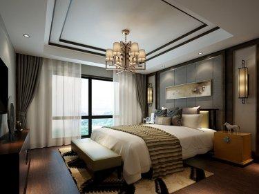 清雅亮丽新中式——为品质生活加分-湖山新意小区132平米3室新中式装修案例