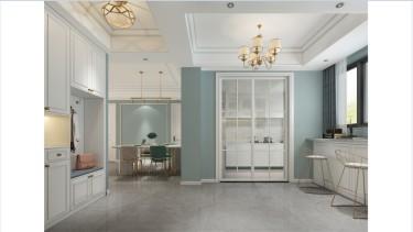 美式轻奢,精致的生活态度-梧桐邑小区125平米4室美式装修案例