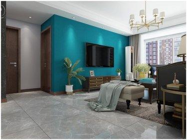 美式空间,给人无限想象-美的时代城小区117平米3室美式装修案例