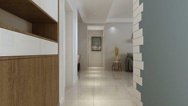 淡雅清爽的欧式风格,小年轻都喜欢。-东尚三期小区123平米3室北欧装修案例