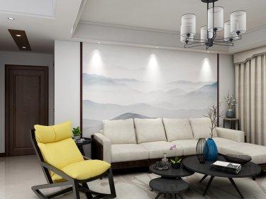 新中式风格,古朴典雅-银河湾小区138平米3室新中式装修案例