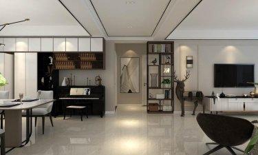 暖色调现代风,一家四口其乐融融-飞宇时代广场小区136平米3室现代装修案例
