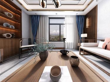 206㎡中式四居 处处透露清新淡雅的东方气息-世茂荣里小区206平米4室中式装修案例