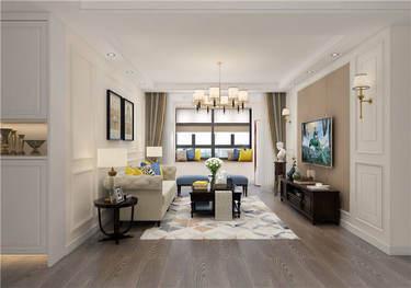 和而不同-103平温馨美式与简约北欧巧妙融合-学府花苑小区103平米2室美式装修案例