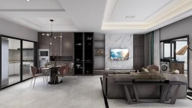 118平跃层/复式现代客厅