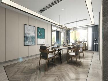 400平别墅简约北欧风格-中粮本源小区400平米别墅北欧装修案例
