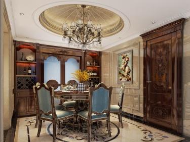 185平欧式风,奢华不失典雅的尊品匠作-颐景湾畔小区185平米2室欧式装修案例