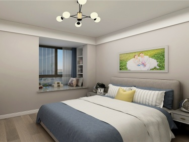 89平北欧风,舒适清新之家-水漾花城小区89平米2室北欧装修案例
