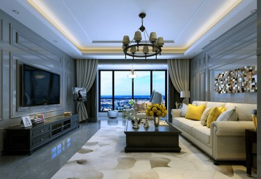 170平4室简美客厅