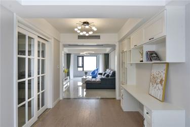 粉绿下的宁静港湾-翡翠湾小区100平米2室现代装修案例