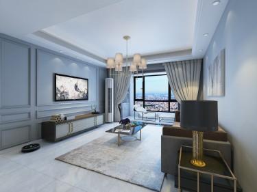 121平3室现代客厅