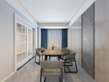120平3室现代餐厅