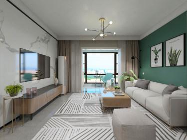 89平3室现代客厅