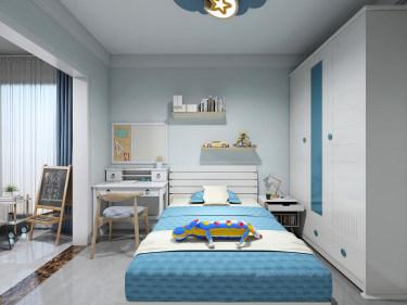 89平3室现代儿童房