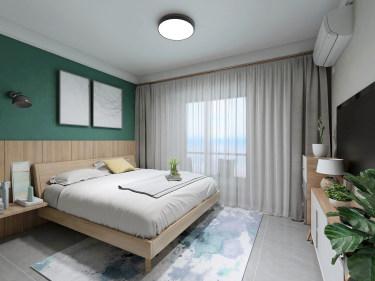 89平3室现代卧室