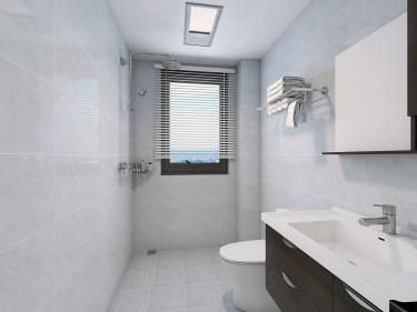 89平3室现代卫生间