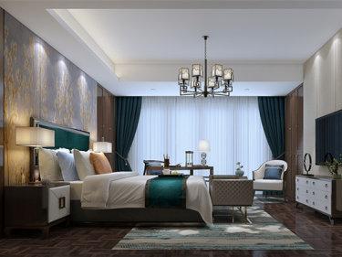 最富东方韵味的奢华——新中式装修-太平盛世花园小区350平米别墅新中式装修案例