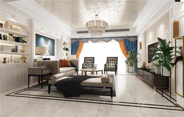 美式轻奢--沉稳的基调,精致的生活-碧桂园小区257平米5室美式装修案例