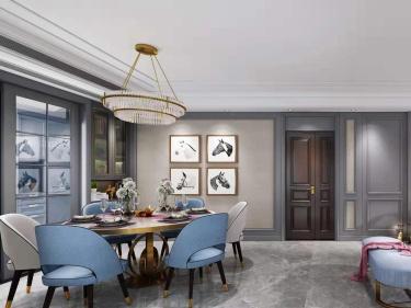 美式轻奢,彰显浪漫格调-紫竹苑小区135平米3室美式装修案例