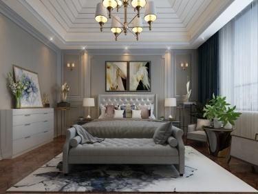 474平欧式轻奢风格,尽显典雅与轻奢之美!-玫瑰园小区474平米别墅欧式装修案例