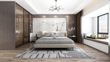 100平3室现代卧室