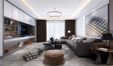 100平3室现代客厅
