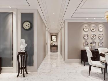 现代+美式,打造宜居舒适之家-海天翡翠城小区131平米3室美式装修案例