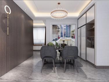 100平3室现代餐厅