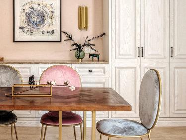 现代轻美式,满足你的少女心-天禧台小区165平米3室简美装修案例