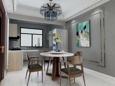 女主人要求的轻奢风-凤凰墅小区145平米4室美式装修案例
