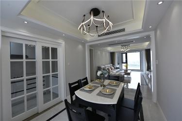 橙光里的小月湾-翡翠湾小区100平米2室美式装修案例