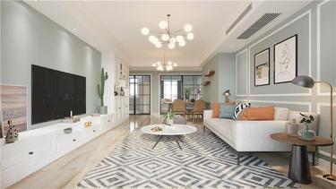 轻奢田园风,留给都市人一份清新唯美的梦想-保利时代小区117平米3室田园装修案例