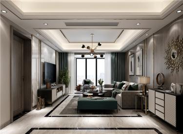114平  复古精致细腻简约的现代轻奢-水韵花都小区114平米3室现代装修案例