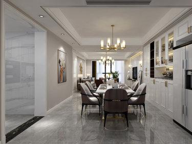 简约法式轻奢 时尚金属元素-溆水外滩小区140平米2室简欧装修案例
