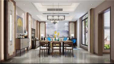 新中式景观豪宅 | 时光缱绻 岁月安然-独墅湾小区350平米别墅新中式装修案例