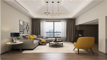 暖色调家居设计 | 无隔断,空间更透亮!-金鸡湖花园小区280平米跃层/复式现代装修案例