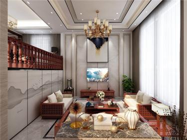 320㎡别墅年轻人新中式风格