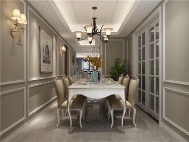 在欧式中寻找新生代的美,于忙碌中追求高品质的家-曲江兰亭小区140平米3室欧式装修案例