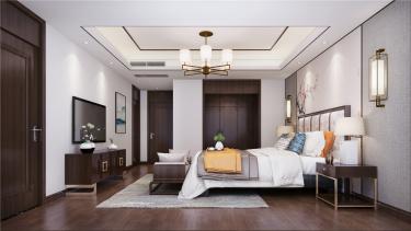 新中式客厅,这样吊顶很简单,却也有档次感!