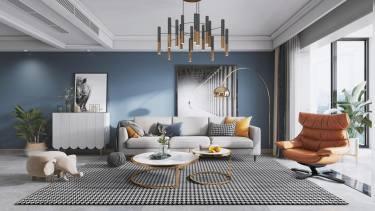 119平3室现代客厅