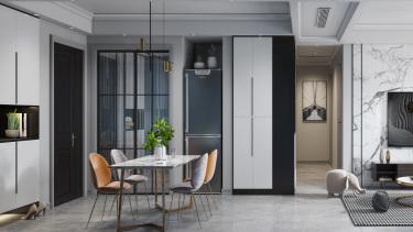 119平3室现代餐厅
