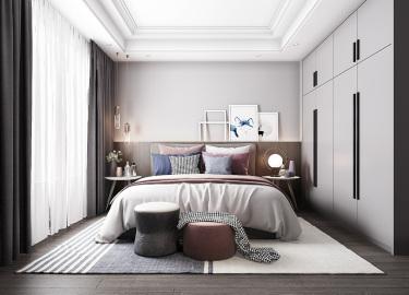 110平3室现代卧室