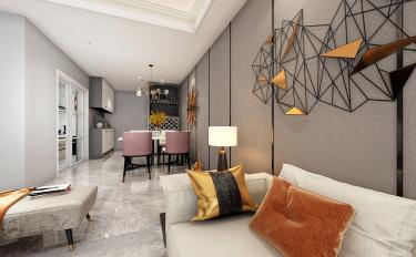 110平3室现代餐厅