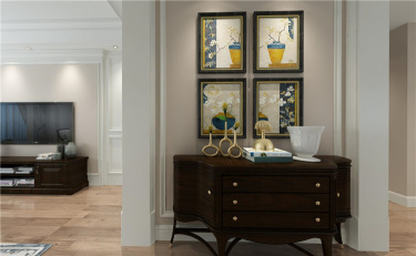 低调不张扬,流淌在岁月里的雅致美式-玫瑰园小区177平米3室美式装修案例
