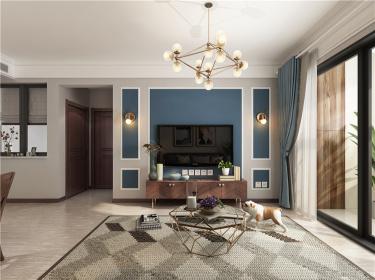 上上城91㎡小美-上上城四期小区91平米3室美式装修案例